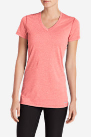 Women's Resolution V-Neck T-Shirt in Red