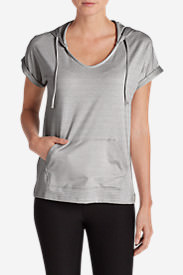 Women's Infinity Short-Sleeve Hoodie in Gray