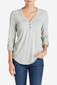 Women's Mercer Knit Henley Shirt in Gray