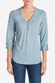 Women's Mercer Knit Henley Shirt in Blue