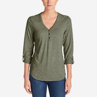 Women's Mercer Knit Henley Shirt in Green