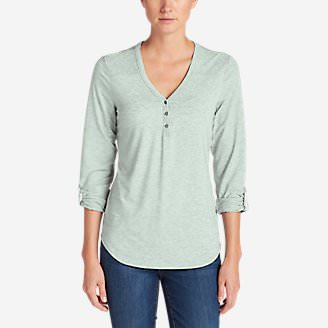 Women's Mercer Knit Henley Shirt in Green