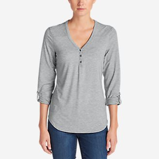 Women's Mercer Knit Henley Shirt in Gray