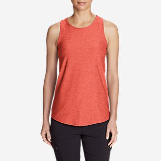 Women's Infinity Swing Tank Top in Orange