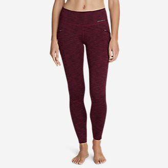 Women's Trail Tight Leggings - 2D Heather in Red