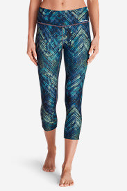 Women's Movement Capris - Print in Blue