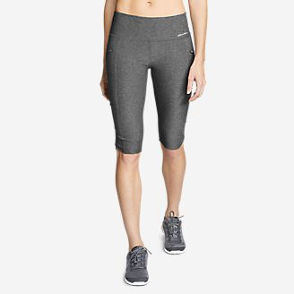 Women's Trail Tight Knee Shorts in Gray