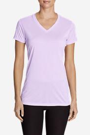 Women's Resolution V-Neck Shirt - Striped in Purple