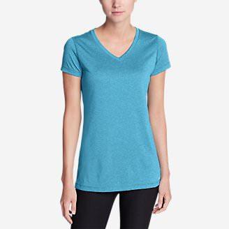 Women's Resolution V-Neck Shirt - Striped in Blue