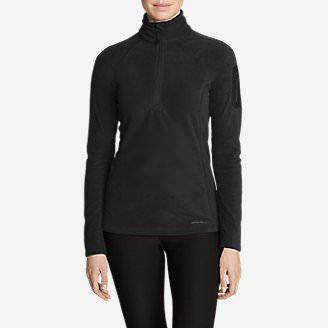 Women's Cloud Layer Pro Fleece 1/4-Zip Pullover in Black