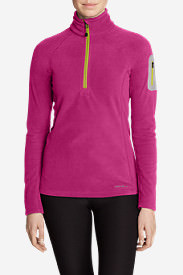 Women's Cloud Layer® Pro Fleece 1/4-Zip Pullover in Red