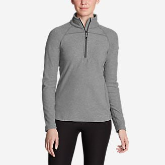Women's Cloud Layer Pro Fleece 1/4-Zip Pullover in Gray