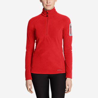 Women's Cloud Layer Pro Fleece 1/4-Zip Pullover in Red