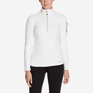 Women's Cloud Layer Pro Fleece 1/4-Zip Pullover in White
