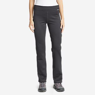Women's Stretch Fleece Pants in Gray