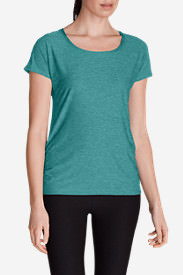 Women's Infinity Scoop Ruched T-Shirt in Green