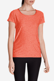 Women's Infinity Scoop Ruched T-Shirt in Red