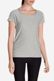 Women's Infinity Scoop Ruched T-Shirt in Gray