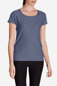 Women's Infinity Scoop Ruched T-Shirt in Blue