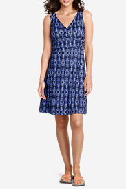 Women's Aster Crossover Dress - Solid in Blue