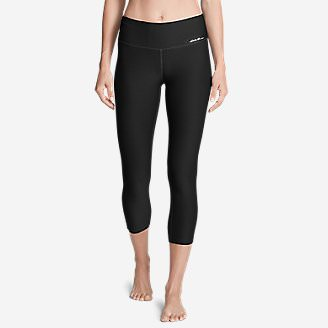 Women's Movement Capris - Solid in Black