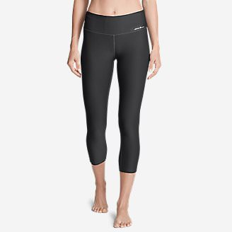 Women's Movement Capris - Solid in Gray