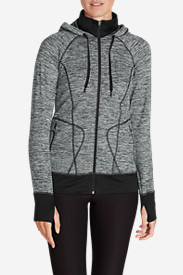 Women's Crossover Fleece Funnel-Neck Hoodie in Black