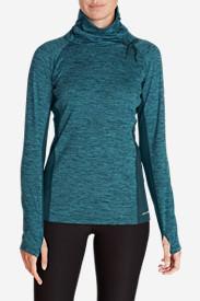 Women's Crossover Fleece Funnel-Neck Pullover in Green