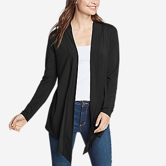 Women's Daisy 2.0 Long-Sleeve Wrap - Solid in Black