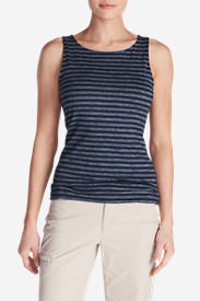 Women's Aster Tank Top - Stripe in Blue