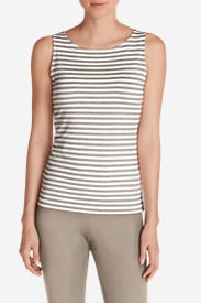 Women's Aster Tank Top - Stripe in White