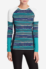 Women's Tidal Rash Guard Top in Blue