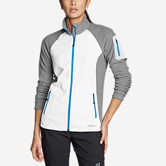 Women's Cloud Layer Pro Fleece Full-Zip Jacket - Color-Blocked in White