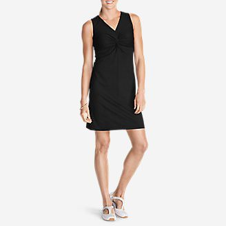 Women's Aster Tie The Knot Dress - Solid in Black