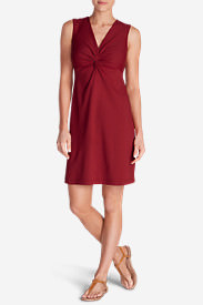 Women's Aster Tie The Knot Dress - Solid in Red