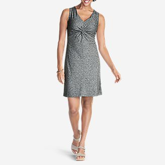 Women's Aster Tie The Knot Dress - Space Dye in Gray