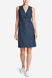 Women's Aster Tie The Knot Dress - Space Dye in Blue