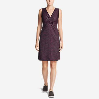 Women's Aster Tie The Knot Dress - Space Dye in Purple