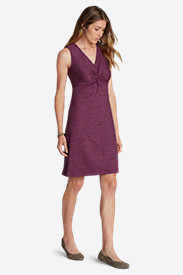 Women's Aster Tie The Knot Dress - Space Dye in Red