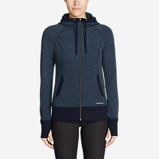 Women's Movement Jacquard Hoodie in Blue