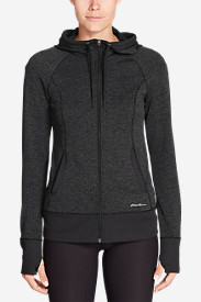Women's Movement Jacquard Hoodie in Gray