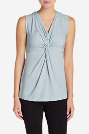 Women's Girl On The Go Twist Front Tank Top in Blue