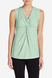 Women's Girl On The Go Twist Front Tank Top in Green