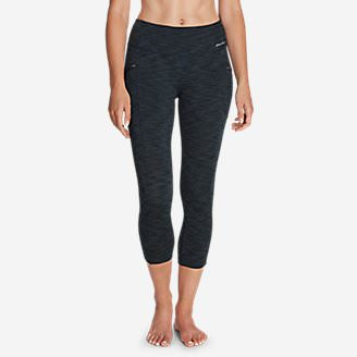 Women's Trail Tight Capris - 2D Heather in Blue
