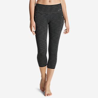 Women's Trail Tight Capris - 2D Heather in Gray