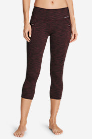 Women's Trail Tight Capris - 2D Heather in Red