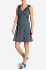 Women's Aster Crossover Dress - Spacedye in Blue