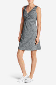 Women's Aster Crossover Dress - Spacedye in Gray
