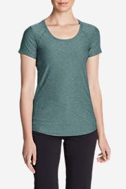 Women's Infinity Scoop-Neck Short-Sleeve T-Shirt in Blue