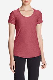 Women's Infinity Scoop-Neck Short-Sleeve T-Shirt in Red